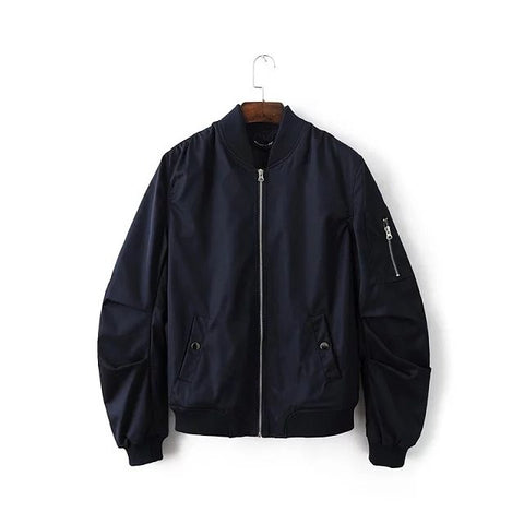 Solid Army Bomber Jacket