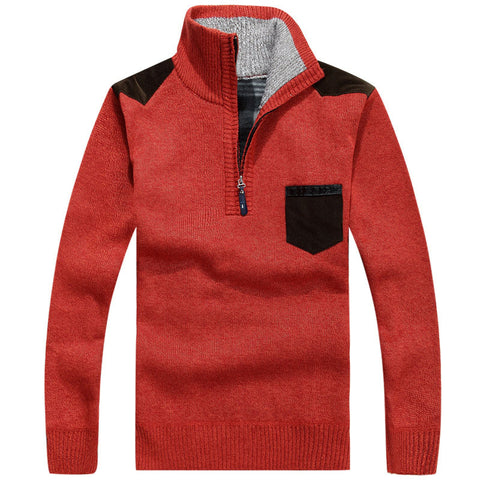 Thick Warm Zipper Pullover Sweater