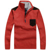 Image of Thick Warm Zipper Pullover Sweater