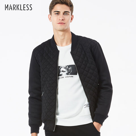 Markless Black Men's Bomber Jacker