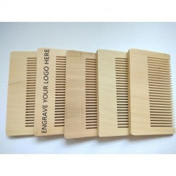 50 Custom Engraved Beard Combs, Logo or Font Included