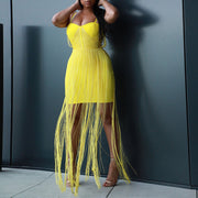 Lolita New Summer Fashion Yellow Spaghetti Strappy Party Dress