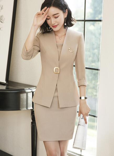 Radiant Short Sleeve Skirt Suit