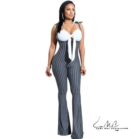 Isabella Striped Jumpsuit