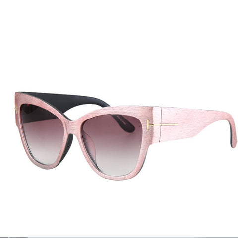 Cat eyes Sunglasses Fashion Flat Top Oversize Shield Shape Glasses Designer Brand