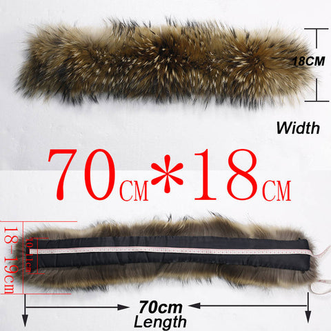 Soperwillton, Real Natural Fur Collar Stole, Warmth with a Passion