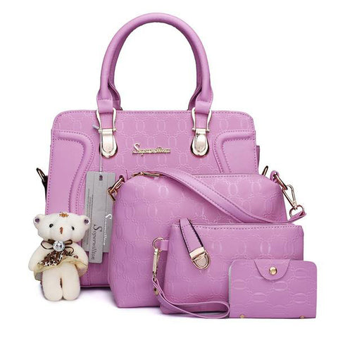 Luxury Handbags Women Bag Set Designer Purses and Handbags Set 4 Piece