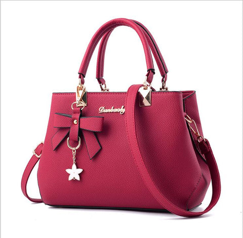 Weekend Girl Shoulder Bag Designer Luxury  Plum Bow Sweet Messenger Cross-body Bag for Women