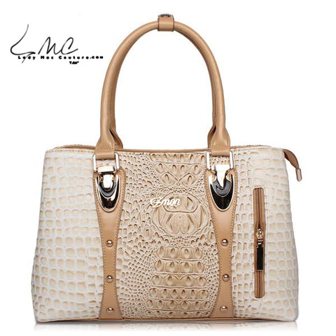 High Fashion Crocodile Leather Tote Bag