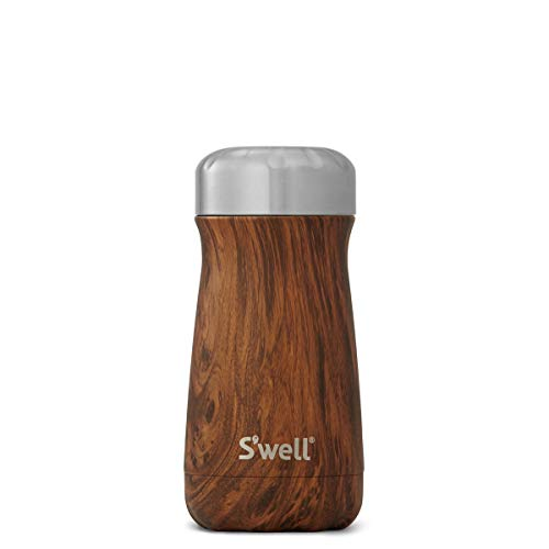 S'well Stainless Steel Travel Mug, 16oz, Teakwood