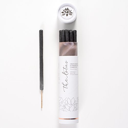 The Lotus Incense - 10 Premium Long Burn 'Fat' Sticks. 100% Organic & Natural Ingredients. Made in Bali Artisan Incense Makers.