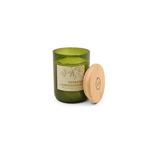 Paddywax Eco Collection Scented Soy Wax Jar Candle, 8-Ounce, Verbena & Lemongrass