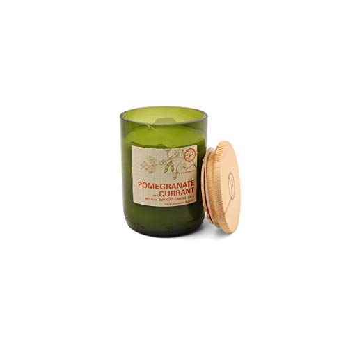Paddywax Eco Collection Scented Soy Wax Jar Candle, 8-Ounce, Pomegranate & Currant