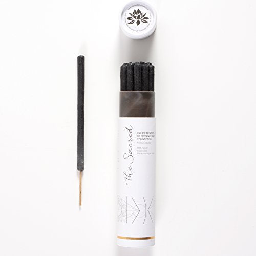 The Sacred Incense - 10 Premium Long Burn 'Fat' Sticks. 100% Organic & Natural Ingredients. Made in Bali by Artisan Incense Makers.