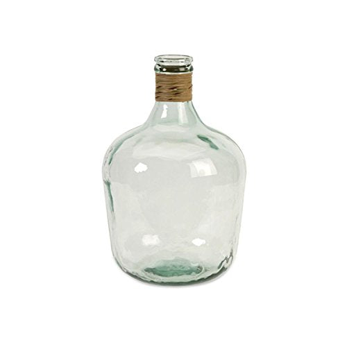 IMAX 84508 Boccioni Glass Jug in Small – Storage Container for Fermenting, Serving/Storing – Sustainable, Handcrafted Display Jars. Decorative Accessories