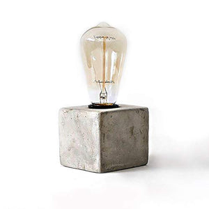 Concrete Lamp Shape Combine with Edison Light Bulb - Rustic Industrial Minimal Style - Cafe Shop Home Decor - Free Bulb Included