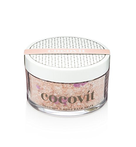 Cocovit - Organic Coconut + Rose Bath Salts (7oz)