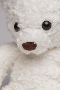 Bears For Humanity Organic Sherpa Bear Plush Animal Toy, White, 16""