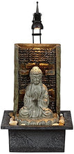 "Load image into Gallery viewer, Namaste Buddha 11 1/2"" High Indoor Table Fountain"