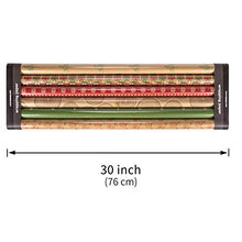 Load image into Gallery viewer, RUSPEPA Christmas Wrapping Paper - Brown Kraft Paper with Red and Green Pattern for -Christmas Elements Collection-6 Roll-30Inch X 10Feet Per Roll