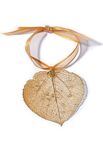 Simply Seattle Seattle Embedded Aspen Leaf Gold Plated Ornament (24k Gold) | Souvenirs |