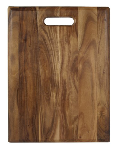 Architec Gripperwood Acacia Cutting Board, Non-Slip Gripper Feet, 12