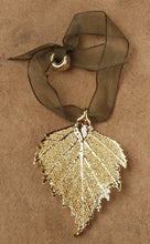 Load image into Gallery viewer, Curious Designs Birch Leaf Ornament - Real Leaf Dipped in Gold, Approx Two Inches
