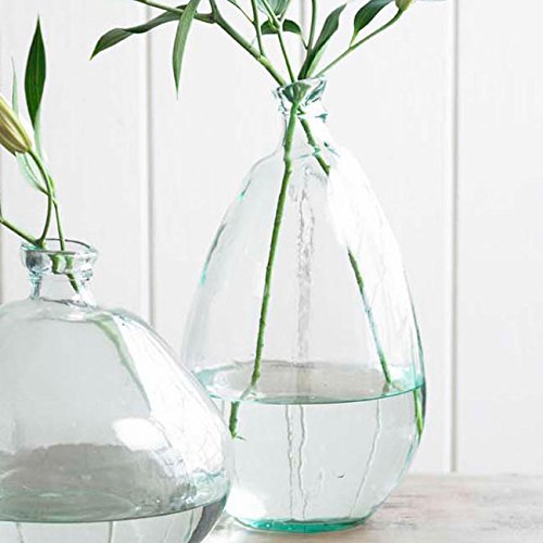 Clear Tall Recycled Glass Balloon Vase, 19
