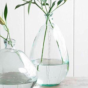Clear Tall Recycled Glass Balloon Vase, 19""