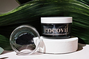 Cocovit - Organic Activated Coconut Charcoal Face Mask for All Skin Types (3.3oz)