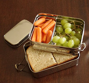 Medium 3-in-1 Stainless Steel Lunch/Meal Box with 3 Compartments - Zero Waste Bento/Tiffin Meal Container