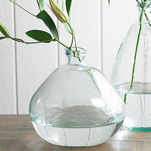 Clear Askew Recycled Glass Balloon Vase, 13""
