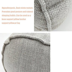 Round Neck Pillow For Neck Hypoallergenic Dust-mite resistant Zipper with Washable Organic Cotton Cover Hypoallergenic Pillow Provides Best Support for Sleeping(grey)