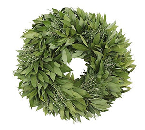 McFadden Farm Bay Leaf Wreath with Rosemary