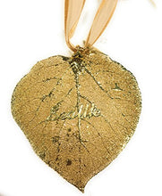 Load image into Gallery viewer, Simply Seattle Seattle Embedded Aspen Leaf Gold Plated Ornament (24k Gold) | Souvenirs |