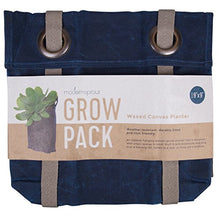 Load image into Gallery viewer, Grow Bag - Hanging Planter - Weather Resistant Canvas Plant Sack By Modern Sprout (Navy, Small)