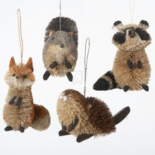 Load image into Gallery viewer, BURI WOODLAND ANIMAL HANGING ORNAMENT - Set of 4