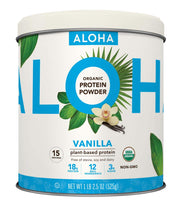 Load image into Gallery viewer, ALOHA Organic Plant Based Protein Powder, Vanilla, 18.5 oz, 15 Servings, Vegan, Gluten Free, Non-GMO, Stevia Free, Soy Free, Dairy Free
