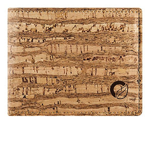 Corkor Cork Wallet Bifold Front Pocket Slim Men Minimalist Vegan Non Leather Durable Zebra