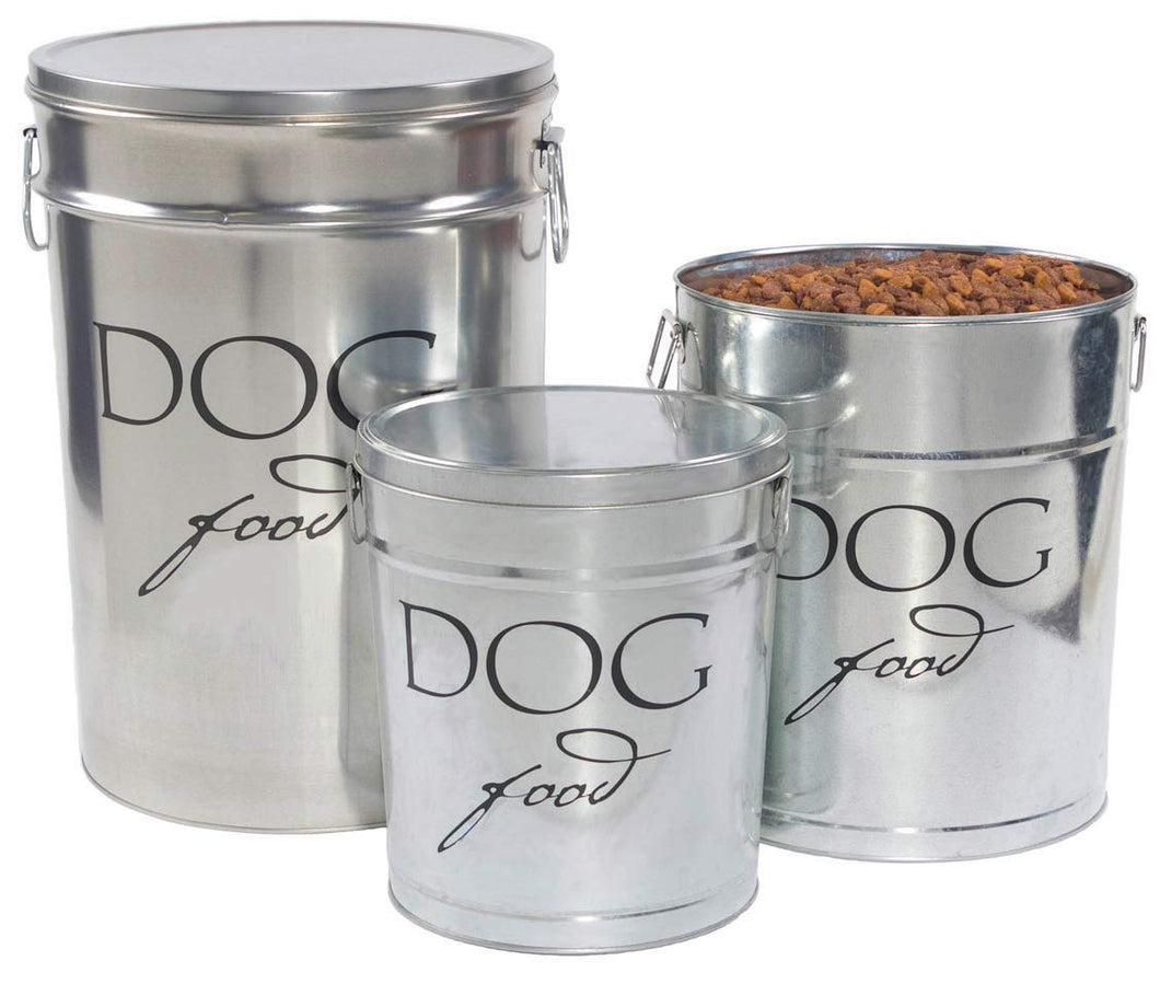 Harry Barker Dog Food Storage - Silver - 40 lb