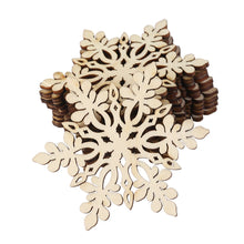 Load image into Gallery viewer, ROSENICE Wooden Snowflake Christmas Decoration Hanging Ornament Pendants Pack of 10