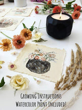 Load image into Gallery viewer, - The Growing Candle - Hate Tossing Empty Candles? Try Our Less-Waste Solution. Burn Candle. Plant Seed-Embedded Label. Grow Wildflowers! Clean Products For A Cleaner Environment. HLC-EMM-SAN
