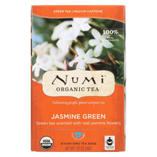 Load image into Gallery viewer, Numi Organic Tea Jasmine Green - 18 Tea Bags - Case Of 6