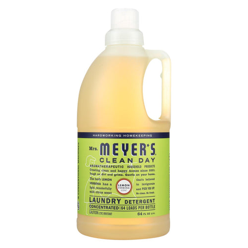 Mrs. Meyer's Clean Day - 2x Laundry Detergent - Lemon Verbana - Case Of 6 - 64 Oz