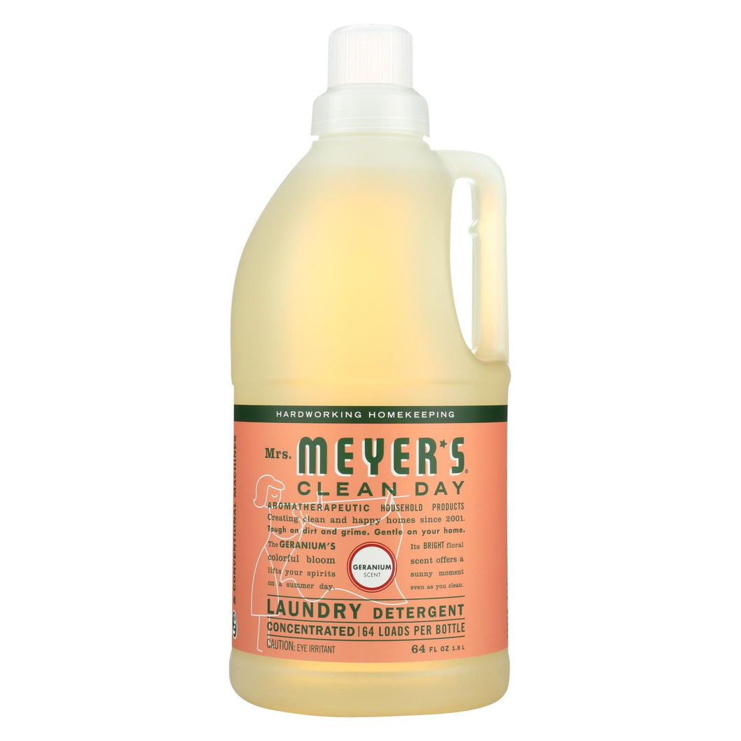 Mrs. Meyer's Clean Day - 2x Laundry Detergent - Geranium - Case Of 6 - 64 Oz