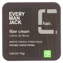 Load image into Gallery viewer, Every Man Jack Fiber Cream - Matte Finish - Firm Hold - Fragrance Free - 2.65 Oz