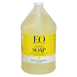 Eo Products - Liquid Hand Soap Lemon And Eucalyptus - 1 Gallon