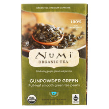 Load image into Gallery viewer, Numi Tea Gunpowder Green Organic Tea - 18 Bags