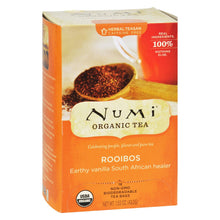 Load image into Gallery viewer, Numi Tea Organic Rooibos - Caffeine Free - 18 Bags