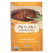 Load image into Gallery viewer, Numi Tea Herbal Tea - Honeybush - Caffeine Free - 18 Bags